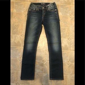 Silver Suki Mid Straight Jeans
